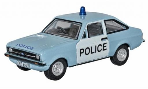 Ford Escort 1/76 Oxford MkII bleue/blanche RHD Police (UK) miniature