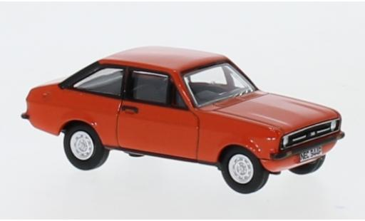Ford Escort 1/76 Oxford MKII rouge RHD miniature