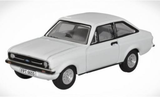 Ford Escort 1/76 Oxford MkII blanche RHD miniature