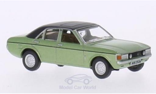 Ford Granada 1/76 Oxford metallise verte/noire miniature