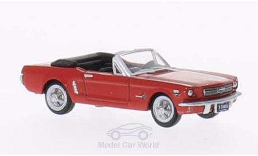 Ford Mustang 1/87 Oxford Convertible rojo 1965 miniatura