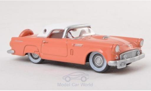 Ford Thunderbird 1/87 Oxford Hardtop rose/blanche 1956 miniature
