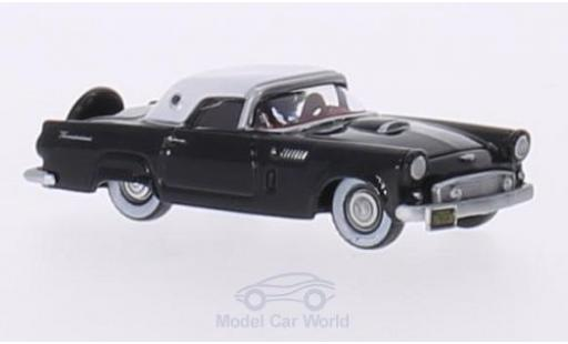 Ford Thunderbird 1956 1/87 Oxford noire/blanche 1956 miniature