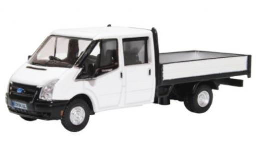 Ford Transit 1/76 Oxford Double Cab Pickup blanche RHD miniature