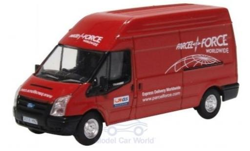 Ford Transit 1/76 Oxford MK5 rouge Parcelforce miniature