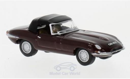 Jaguar E-Type 1/76 Oxford Convertible rouge miniature