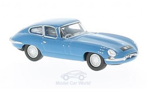 Jaguar E-Type 1/76 Oxford Coupe bleue Donald Campbell miniature