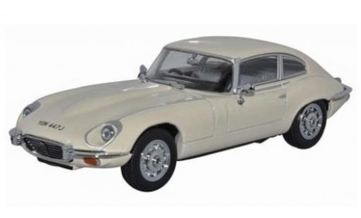 Jaguar E-Type 1/43 Oxford Coupe V12 beige RHD diecast model cars
