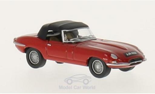 Jaguar E-Type 1/76 Oxford DHC rouge/noire RHD miniature