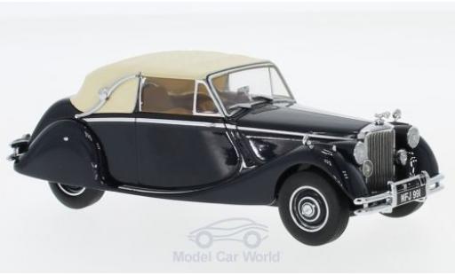 Jaguar MK 1/43 Oxford V bleue/beige RHD miniature