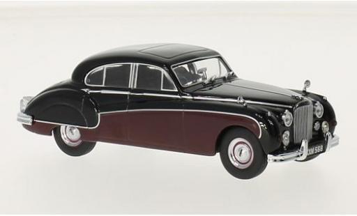 Jaguar MK 1/43 Oxford IX noire/rouge RHD miniature