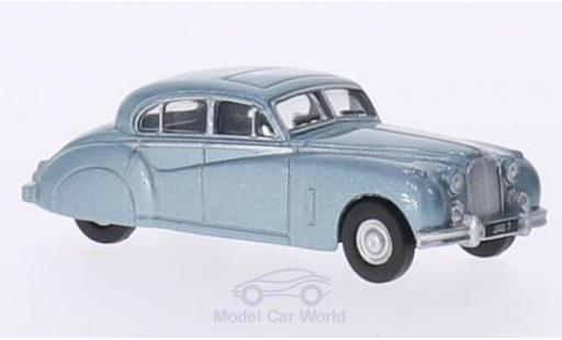 Jaguar MK 1/76 Oxford MkVII metallic-hellbleue RHD miniature