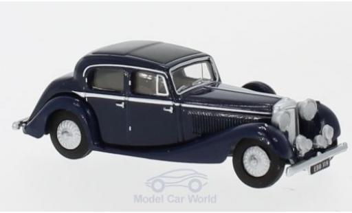 Jaguar SS 1/76 Oxford 2.5 Litre bleue miniature