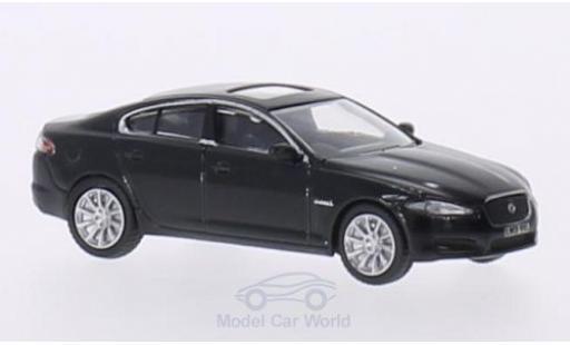 Jaguar XF 1/76 Oxford metallise noire RHD miniature
