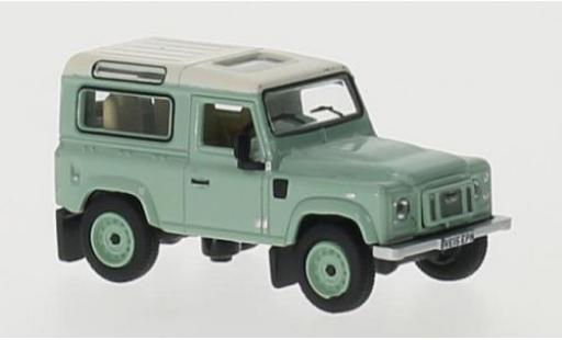 Land Rover Defender 1/76 Oxford 90 verte/beige RHD Station Wagon miniature
