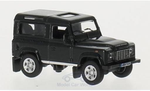 Land Rover Defender 1/76 Oxford 90 noire RHD Station Wagon miniature