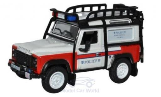 Land Rover Defender 1/76 Oxford 90 Station Wagon Metropolitan Police miniature