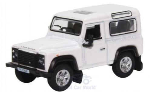 Land Rover Defender 1/76 Oxford 90 Station Wagon blanche miniature