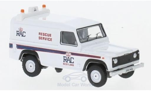 Land Rover Defender 1/76 Oxford LWB Hardback RAC miniature