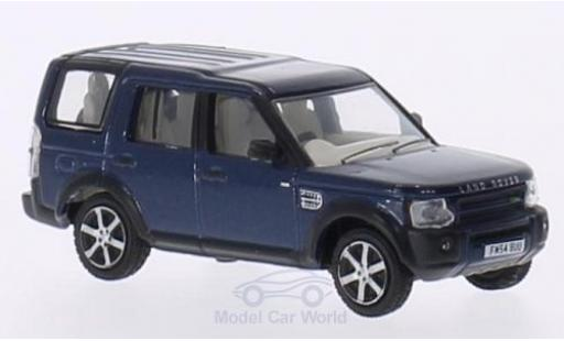 Land Rover Discovery 1/76 Oxford 3 metallise bleue RHD miniature