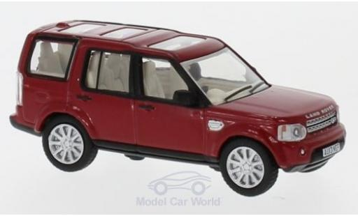 Land Rover Discovery 1/76 Oxford 4 metallise rouge miniature