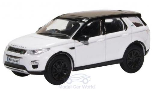 Land Rover Discovery 1/76 Oxford Sport blanche/noire miniature
