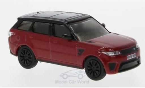 Land Rover Range Rover 1/76 Oxford Sport SVR rouge/noire miniature