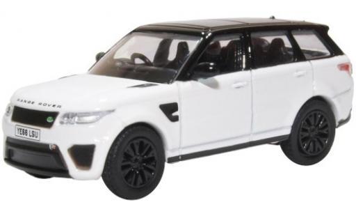 Land Rover Range Rover 1/76 Oxford Sport SVR blanche/noire RHD miniature