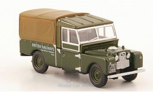 Land Rover Series 1 1/76 Oxford 109 oliv/marron British Railways miniature