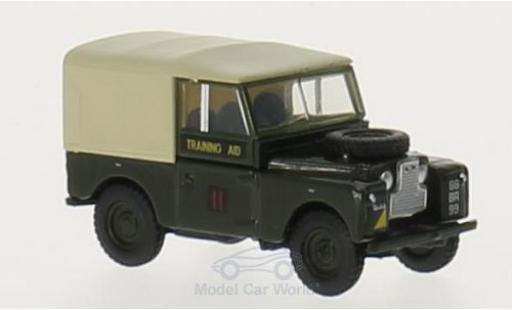 Land Rover Series 1 1/76 Oxford 88 Canvas grün/beige RHD RTC 6th Training Regiment miniature