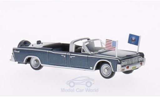 Lincoln Continental 1/87 Oxford X100 metallise bleue 1961 Staatsfahrzeug mit USA-Standarten miniature