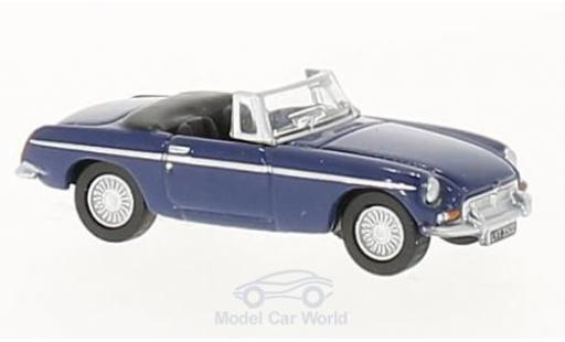 MG B 1/76 Oxford Roadster bleue RHD miniature