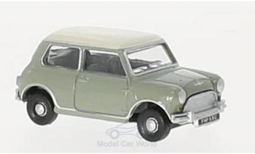 Mini Cooper D 1/76 Oxford grise/beige RH miniature