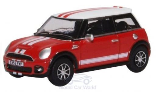 Mini Cooper 1/76 Oxford rouge/blanche miniature