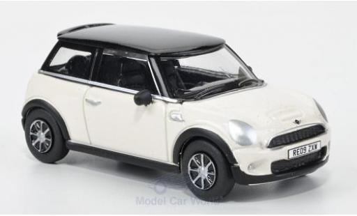 Mini Cooper 1/76 Oxford S blanche/noire 2005 miniature