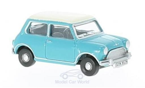 Mini Cooper S 1/76 Oxford türkis/blanche miniature