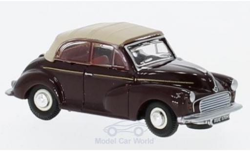 Morris Minor 1/76 Oxford Convertible dunkelrouge/beige miniature