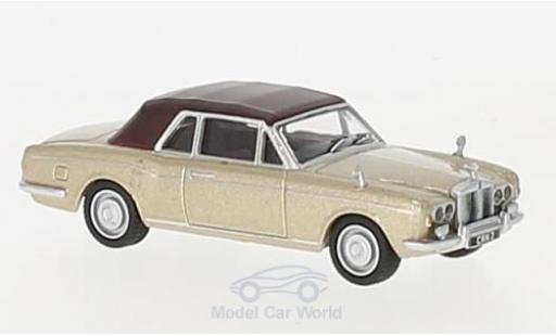 Rolls Royce Corniche 1/76 Oxford Convertible gold/marron RHD miniature