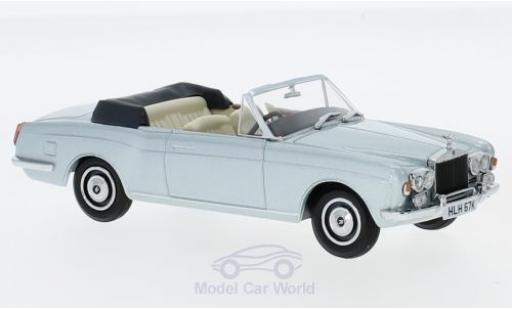 Rolls Royce Corniche 1/43 Oxford Convertible metallic-hellbleue RHD miniature