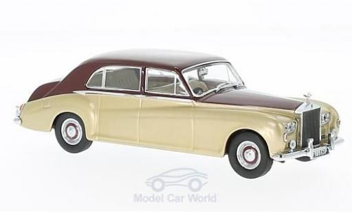 Rolls Royce Phantom 1/43 Oxford V James Young gold/rouge RHD miniature