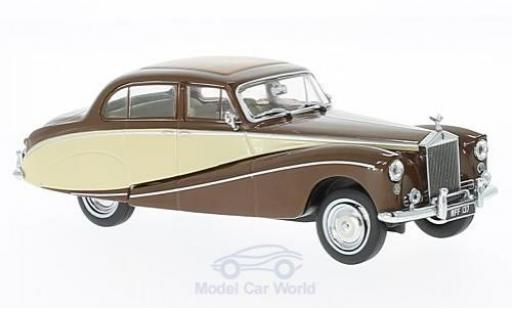 Rolls Royce Silver Cloud 1/43 Oxford Hooper Empress marron/beige RHD miniature