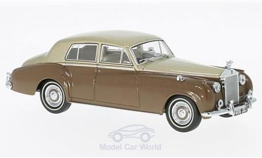 Rolls Royce Silver Cloud 1/43 Oxford I metallic-beige/marron RHD miniature