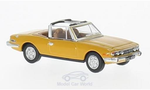 Triumph Stag 1/76 Oxford jaune RHD miniature