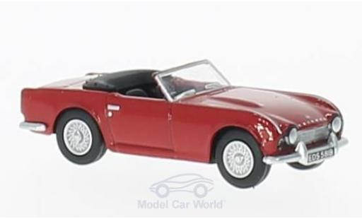 Triumph TR4 1/76 Oxford rouge miniature