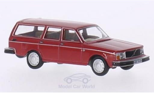 Volvo 245 1/76 Oxford Estate rouge RHD miniature
