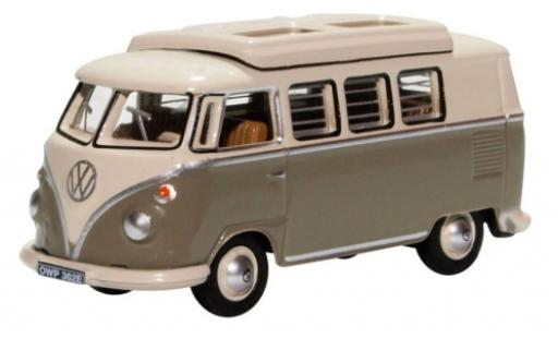Volkswagen T1 1/76 Oxford Camper grau/weiss modellautos