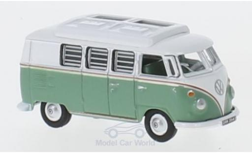Volkswagen T1 A 1/76 Oxford Camper turquoise/blanche miniature