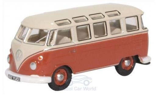 Volkswagen T1 1/76 Oxford Samba Bus red/beige diecast