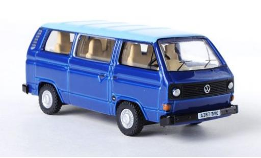 Volkswagen T3 1/76 Oxford Bus bleue/bleue RHD miniature