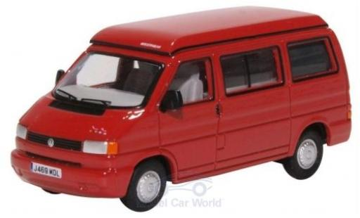 Volkswagen T4 1/76 Oxford Westfalia Camper rouge miniature